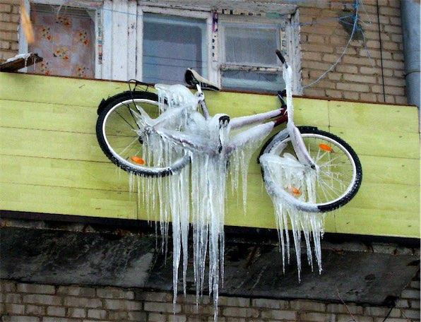 велосипед зимой