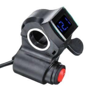 ручка газа с вольтметром и кнопкой